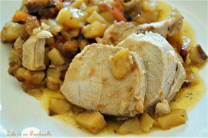 Recette Rôti de porc aux tomates & pommes de terre