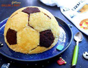 Recette Gâteau ballon de foot au chocolat !