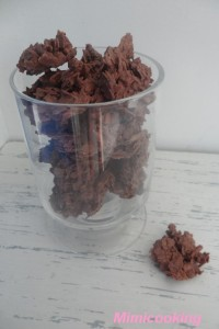 Recette Rose des sables : friandise au chocolat