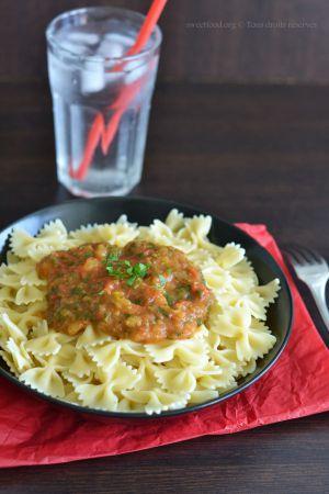 Recette Sauce pour pâte – Tomate et persil express