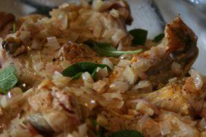Recette Cuisses de poulet à la sauge