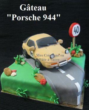 """Recette Gâteau """"Porsche 944"""" en Pâte à Sucre"""