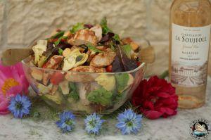 Recette Salade printanière aux blancs de poulet rôti