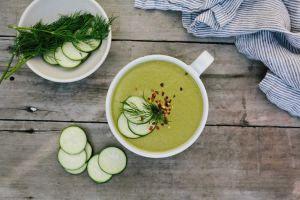 Recette Soupe froide de courgettes au Thermomix