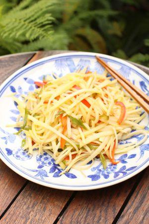 Recette Salade de pommes de terre croquante à la chinoise