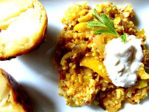 Recette Kitchari avec riz de chou-fleur, lentilles rouges, quinoa et citron confit