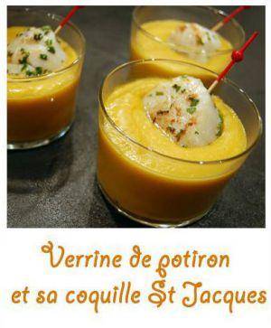 Recette Verrine de potiron et sa coquille st Jacques
