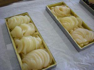 """Recette Tarte bourdaloue ou """"tarte amandine aux poires"""""""