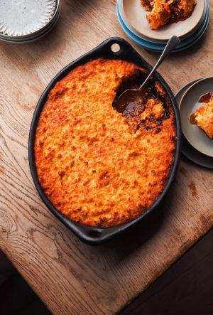 Recette Poulet cuisson lente avec une Croûte de Maïs