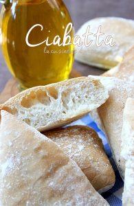 Recette Pain ciabatta, pain italien sans levain