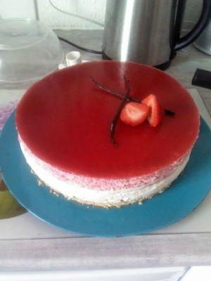 Recette Bavarois fraise/vanille insert fraise