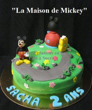 """Recette Gâteau """"La Maison de Mickey"""" en Pâte à Sucre"""
