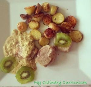 Recette Filet mignon de porc aux kiwis
