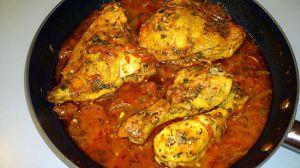 Recette Poulet ou cuisse de poulet au massalé