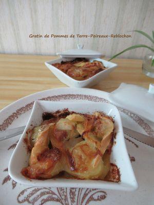 Recette Gratin de Pommes-de-Terre-Poireaux-Reblochon
