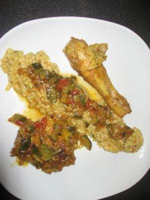 Recette Cuisses et Hauts de cuisse de Poulet au curry et petits légumes