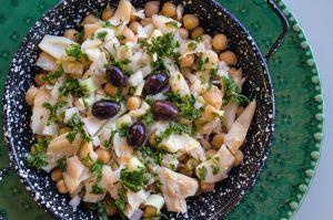 Recette Salade de morue aux pois chiches