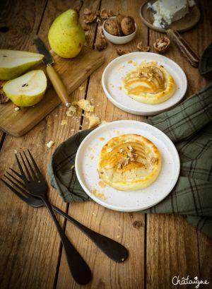 Recette Tartelettes aux poires et gorgonzola