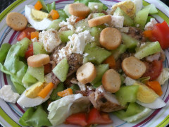 Recette Salade composée de poulet grillé