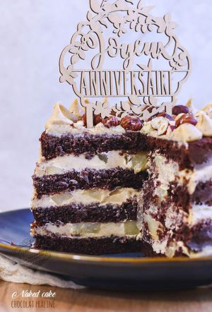 Recette Naked cake chocolat praliné