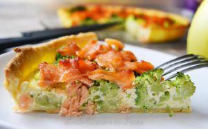 Recette Quiche au brocoli et au saumon fumé