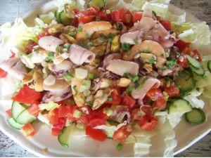 Recette Salade aux fruits de mer