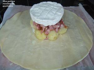 Recette Camembert feuilleté, pommes de terre et lardons