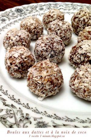 Recette Boules aux dattes et à la noix de coco