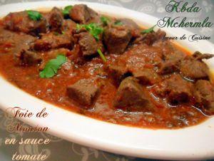 Recette Foie d'agneau / de mouton en sauce tomate