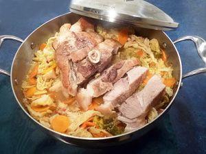Recette Rouelle de porc au chou