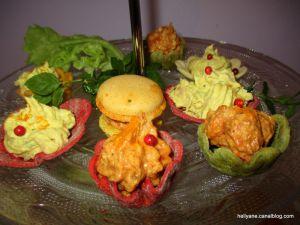 Recette Mini bouchées a la crème au thon curcuma/confit de tomates