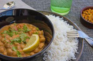 Recette Curry de pois chiches au lait de coco