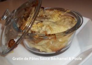 Recette Gratin de Pâtes Sauce Béchamel & Poule