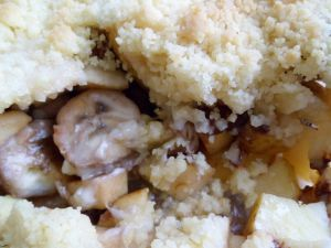 Recette Crumble pomme - banane - chocolat