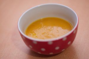 Recette Soupe citrouille orange avec plein de bonnes choses dedans