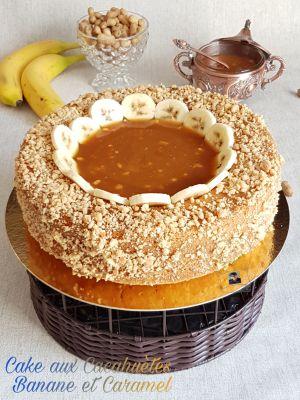 Recette Cake aux Cacahuètes Banane et Caramel