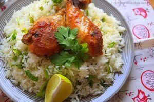 Recette Poulet sauce soja miel & riz basmati à la coriandre