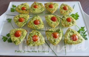 Recette Petits flans aux brocolis