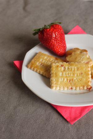 Recette Biscuits à la fraise (fraises séchées aca)