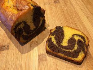 Recette Cake marbré au chocolat et au potiron