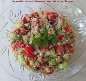 Recette Taboulé de quinoa naturellement sans gluten