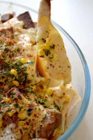 Recette Tortillas au maïs, seitan et sauce fromagère