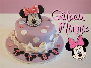 Recette Gâteau Minnie en pâte à sucre tutoriel