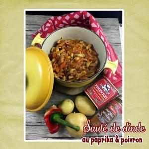 Recette Sauté de dinde au paprika & poivron