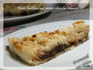 Recette Tarte feuilletée aux poires chocolat crumble