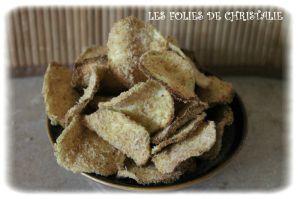 Recette Chips de courgettes