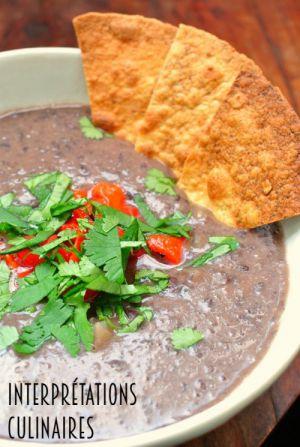 Recette Soupe de haricots noirs