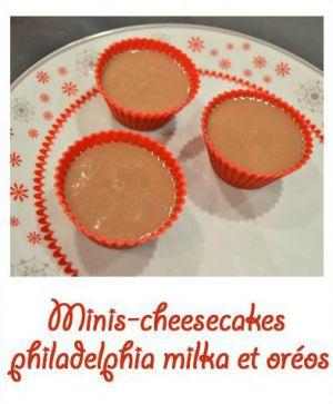 Recette Minis-cheesecakes philadelphia milka et oréos