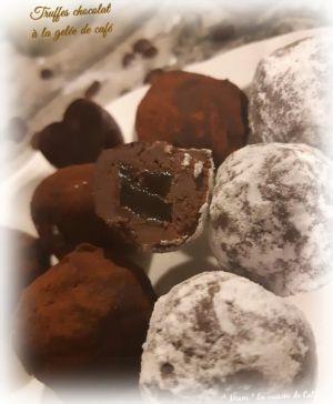 """Recette ღ """" Miam """" Truffes chocolat à la gelée de café"""