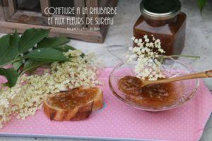 Recette Confiture à la rhubarbe et aux fleurs  de sureau